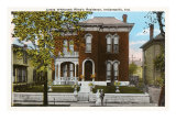 James Whitcomb Riley House, Indianapolis, Indiana Print