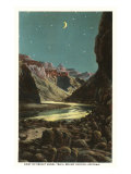 Moon over Bright Angel Trail, Grand Canyon Print