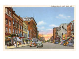 Michigan Street, South Bend, Indiana Poster