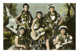 Hawaiian Music Girls Posters