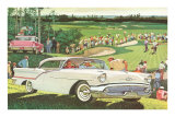 Fifties Cars on Golf Course Photo