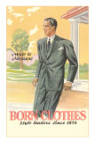 'Born Clothes', Man in Suit Psters