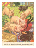 Pigs and Cake Prints