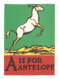 A is for Antelope Prints