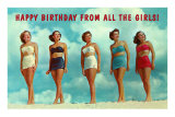 Happy Birthday from all the Girls, Bathing Beauties Prints