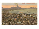 View of Mt. Vesuvius, Naples, Italy Prints