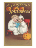 Children Reading Ghost Story Print