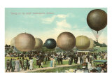 Balloon Race, Indianapolis, Indiana Posters