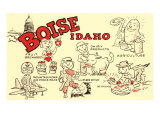 Boise, Idaho, Cartoons Print