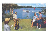 Golfing, Water Skiing Posters