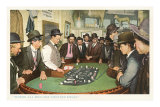 Men at Gambling Table Print