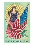 Happy Birthday, Patriotic Images Prints
