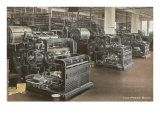 Newspaper Printing Press Room Prints