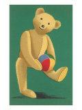 Perky Teddy Bear with Ball Art