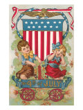 Fourth of July, Children with Firecrackers Prints