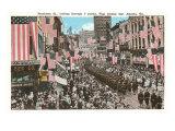 Peachtree Street Parade, Atlanta, Georgia Kunstdrucke