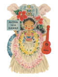 Aloha from Hawaii, Doll with Ukulele Print