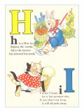 H is for Hoe, I is for Ice Cream Posters