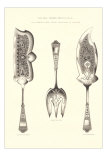 Silverware Patterns for Serving Implements Prints