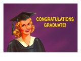Congratulations Graduate, Blonde Coed Photo