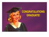 Congratulations Graduate, Blonde Coed Posters