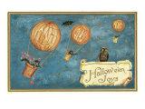 Jack O'Lantern Balloons Print