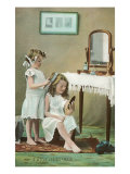 A Little Ladies' Maid, Girls at Toilette Posters