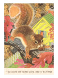 Squirrel with Acorn Posters