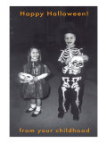 Trick or Treaters in Costume Poster