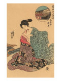 Japanese Woodblock, Woman Dressing Prints