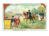 4th of July, George Washington and Cornwallis Prints