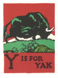 Y is for Yak Plakaty