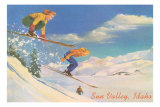 Women Skiers, Sun Valley Posters