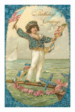 Birthday Greetings, Sailor Boy Posters