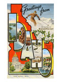 Greetings from Sandpoint, Idaho Print