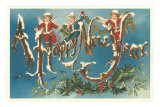 Victorian Santa Angels Prints