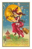 Halloween, Witch in Front of Moon Poster