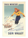 Sun Valley, Idaho Travel Poster Póster