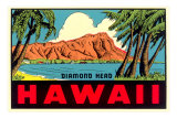 Diamond Head from Waikiki Beach, Hawaii Prints