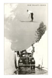 Sun Valley, Idaho, Ski Jumper Over Car Fotografa