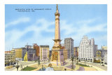 Monument Circle, Indianapolis, Indiana Posters