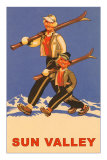 Skiing in Sun Valley, Idaho, Graphics Posters