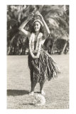 Girl Doing Hula, Hawaii Prints