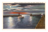 Lighthouse, Michigan City, Indiana Prints