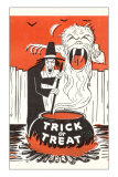 Halloween Witch, Trick or Treat Prints