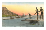Surf Riders at Waikiki, Hawaii Print
