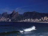 Praia De Ipanema, Rio De Janeiro, Brazil Photographic Print by Julie Bendlin