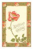 Birthday Greetings, Rose Prints