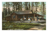 Log Cabin, Hayden Lake, Idaho Posters