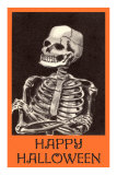 Happy Halloween, Skeleton Poster